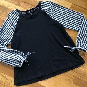 Massini Gingham Long Sleeve Pullover